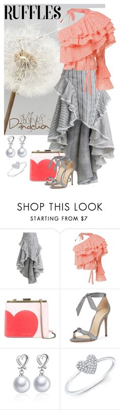 """Ruffled Wishes"" by giovanina-001 ❤ liked on Polyvore featuring Zimmermann, Rosie Assoulin, Tammy & Benjamin, Alexandre Birman, WithChic, Anne Sisteron and ruffledtops"