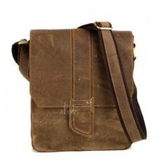 Vintage messenger bags for men, small messenger bag - BagsWish