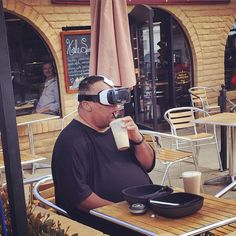 Just hanging out in the future, drinking a milkshake...