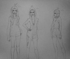 Height study: left to right - Bree, Mercy, Eir
