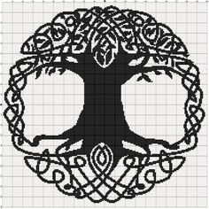 Filet Crochet Pattern Celtic Tree by MoWeHappy on Etsy