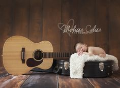 Melissa Calise Photography (Newborn Baby Boy Guitar Case Posing Ideas Photo Shoot)