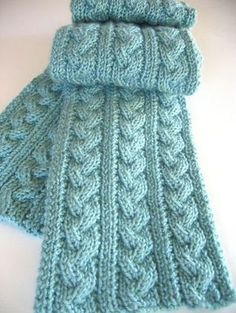 Free knitting pattern for Braided Cable Scarf and more scarf knitting patterns