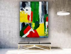 Abstract Canvas Art Extra Large Painting Abstract Art Xl image 0 Large Canvas Art, Abstract Canvas Art, Large Painting, Painting Abstract, Colorful Artwork, Colorful Paintings, Office Wall Art, Office Decor, Oversized Wall Art