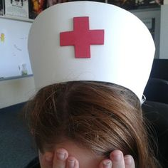 how to make a female nurse hat