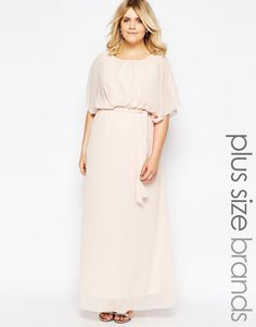 Club+L+Plus+Maxi+Dress+With+Fluted+Sleeves