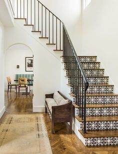 Gorgeous Spanish-inspired tiled staircase