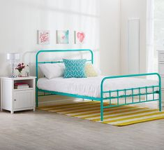 painted metal bed frame - Google Search