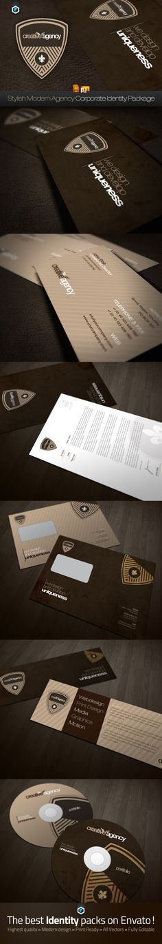 RW Stylish Creative Agency Corporate Identity - Business Cards - Creattica