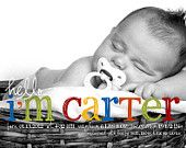 Hello Carter Baby Boy Custom Photo Birth Announcement - love this! Newborn Pictures, Baby Pictures, Baby Photos, Newborn Pics, Baby Boy Birth Announcement, Birth Announcements, Little Mac, Baby Gallery, Morris