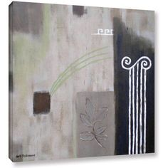 ArtWall Herb Dickinson Greek Tribute II Gallery-wrapped Canvas, Size: 24 x 24, Silver
