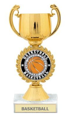 Award the Top Basketball Team With This Gold #BasketballCupTrophy http://www.crownawards.com/StoreFront/TRCCPG.Basketball.Trophies.Gold_and_Silver_Chaplet_Cup_Trophies.prod