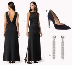 Look-fête-longue-robe-noire-escarpins-noirs-Tommy-Hilfiger Prom Dresses, Formal Dresses, Tommy Hilfiger, Fashion, Black Pumps Shoes, Dress Black, Long Gown Dress, Fashion Ideas, Dresses For Formal