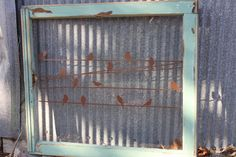 Reclaimed Upcycled Old Window. Vinyl Wall Art - Jade frame - Birds on wires. Old Window Projects, Vinyl Projects, Window Ideas, Window Art, Home Crafts, Diy Home Decor, Fun Crafts, Vintage Windows, Antique Windows