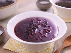 椰汁紫米露 Purple Glutinous Rice and Tapioca with Coconut Milk