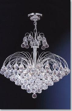 Jaqueline Medium Crystal Chandelier - Available at GrandLight.com (interesting, but not really the look for the house)