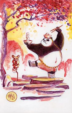 Watercolor: Kung Fu Panda by mikemaihack.deviantart.com on @DeviantArt