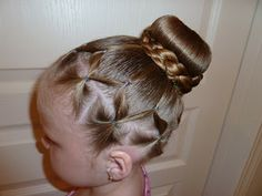 Pretty hair for Wacky hair day or any day.