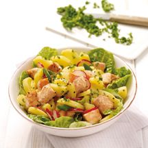 Weight Watchers - Aardappelsalade met zalmblokjes - 9pt Weight Watchers Lunches, Weight Watchers Free, Weith Watchers, Low Calorie Recipes, Healthy Recipes, I Want Food, Good Food, Yummy Food, Savoury Dishes