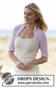 Mette Bolero By DROPS Design - Free Knitted Pattern - (ravelry)