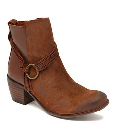 Look at this MTNG Tan Bailey Leather Bootie on #zulily today!