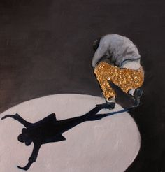 """""""unbreakable""""  Oil on board with Goldleaf."""