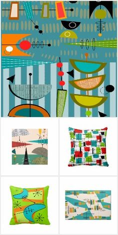 Mid century modern for kids and fabrics on pinterest for Modern kids fabric
