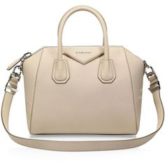 Givenchy Antigona Small Leather Satchel found on Polyvore featuring bags, handbags, leather purses, pink crossbody purse, leather satchel, pink leather purse and leather satchel purse
