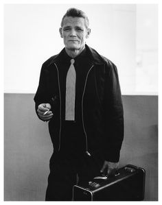 Chet Baker by Bruce Weber, 1988. Lovely tie.