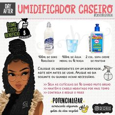 Dica de umidicador caseiro para cachos - Effektive Bilder, die wir über diy bathroom anbieten Ein Qualitätsbild kann Ihnen viele Dinge s - Curly Hair Styles, Hair And Beard Styles, Natural Hair Styles, Red Hair Inspiration, Dream Hair, How To Make Hair, Hair Journey, Love Hair, Hair Hacks