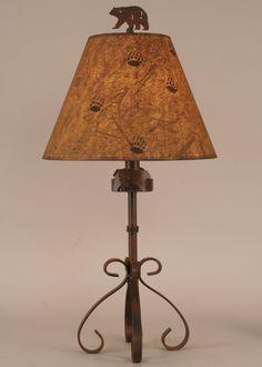 Iron S-Leg Bear Table Lamp