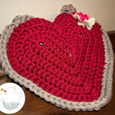 Patrón Bolso de trapillo corazón