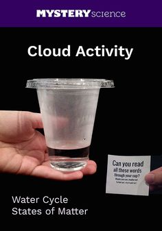 Cloud Activity - free hands-on science activity for 2nd, 3rd or 4th grade elementary kids. Part of a complete unit on Weather: Weather, Climate, & Water Cycle. Meets Common Core and NGSS.