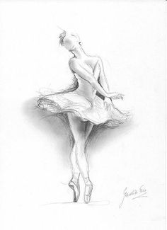 Art 'Ballerina' - by Ewa Kienko Gawlik from drawing