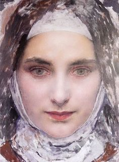 st theresa of Lisieux detail 1931 by EDGAR MAXENCE