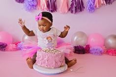 Beautiful little Afika came for her session on her actual birthday! She looked like such a little princess in her tutu, and this one knew how to throw out some fierce poses! Unfortunately, Afika wa… Cake Smash, Little Princess, Photographs, Birthday Cake, Desserts, Food, Tailgate Desserts, Deserts, Cake Smash Cakes