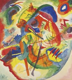 "'Design for ""Improvisation with Red-Blue Ring""' (1913) by Wassily Kandinsky"