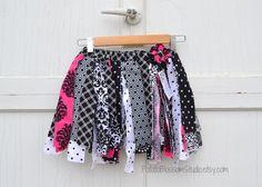 Handmade Cotton Scrap Tutu Dance Play Skirt by PotatoBlossomStudio