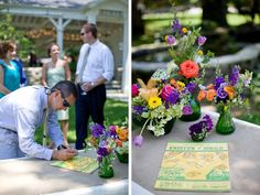 Hello Sunshine :: guestbook tablescapes