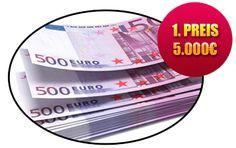 Sofort Bargeld in der Höhe von 5000,- Euro gewinnen  GfG  Gewinnspiele für Gewinner