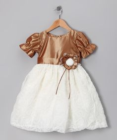 Take a look at this Bronze & Ivory Princess Dress - Toddler & Girls on zulily today!