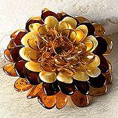 Amber Flower Pin