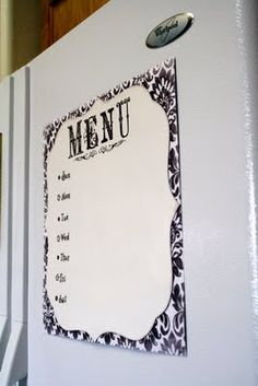 tutorial on how to make your own menu board