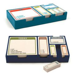 Fit a whole lot of attitude into just a little bit of space with Sticky Note Sets from Knock Knock.    Available in Whenever or Actions, these desk-ready sets include six 100-page pads of Stickies in four convenient sizes.