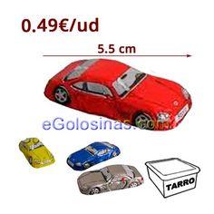 SPORTWAGEN CHOCOLATE son chocolatinas envueltas con forma de coche Sportwagen. Miden 5.5cm de largo y 2 cm de ancho aprox. Se venden 50 unidades.