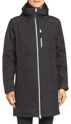 Women's Helly Hansen 'Belfast' Long Waterproof Winter Rain Jacket http://shopstyle.it/l/dSvY