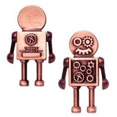 Steampunk Robot Geocoin inkl Travel Tag