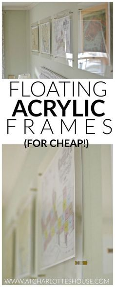 These are the perfect way to get the look of chic floating acrylic frames without breaking the budget!