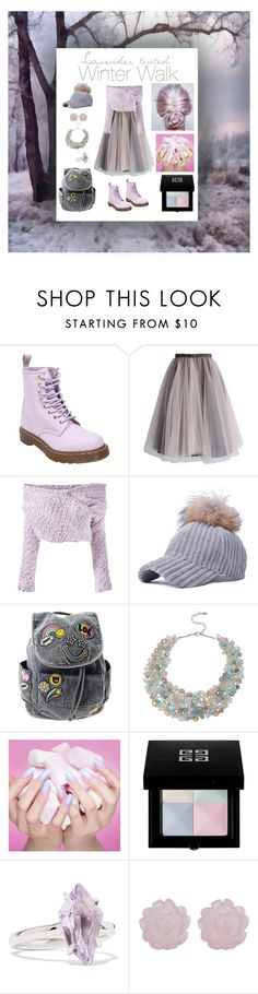 """Lavender-tinted Winter Walk"" by linnea-svensson93 ❤ liked on Polyvore featuring Dr. Martens, Chicwish, Daizy Shely, ALDO, Givenchy and Alexis Bittar"