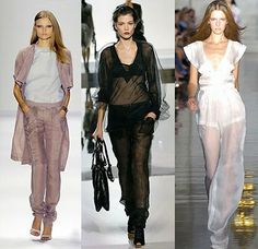 Everything is transparent this season – trousers, shirts, beach tunics, etc. Even the night dresses are made from different layers of air fabrics and the pearl of Jason Wu's collection looks like it was created from pieces of the night sky. www.fashionbelief.com